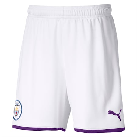 Manchester City FC dryCELL Kids' Third Replica Shorts, Puma White-Tillandsia Purple, small-IND