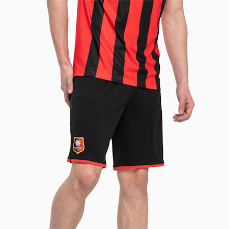 Meska replika szortów Stade Rennais FC, Puma Black-Puma Red, small