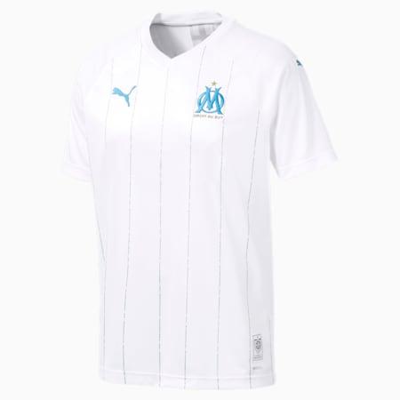 Reproduction du maillot à domicile Olympique de Marseille , Blanc Puma-bleu azur, petit