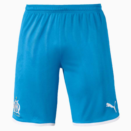 Olympique de Marseille Men's Replica Shorts, Bleu Azur-Puma White, small
