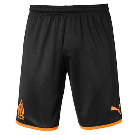 Olympique de Marseille Men's Replica Shorts, Puma Black-Orange Popsicle, small