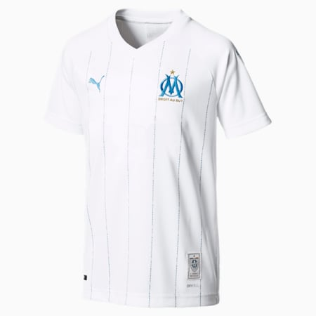 Olympique de Marseille Kids' Home Replica Jersey, Puma White, small