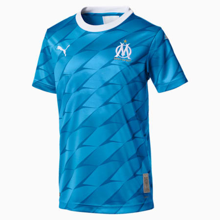 Olympique de Marseille Kids' Away Replica Jersey, Bleu Azur, small