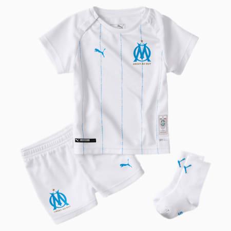 Mini set domicile Olympique de Marseille pour bébé, Puma White-Bleu Azur, small