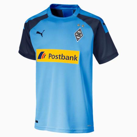 Chlopieca replika koszulki wyjazdowej klubu Borussia Mönchengladbach, Team Light Blue-Peacoat, small