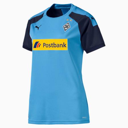 Damska replika koszulki wyjazdowej Borussia Mönchengladbach, Team Light Blue-Peacoat, small
