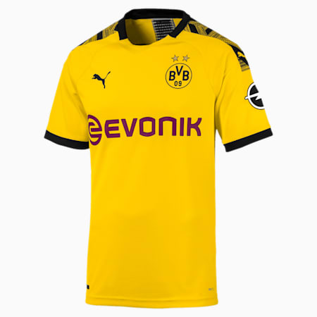 BVB Home Authentic Men's Jersey, Cyber Yellow-Puma Black, small