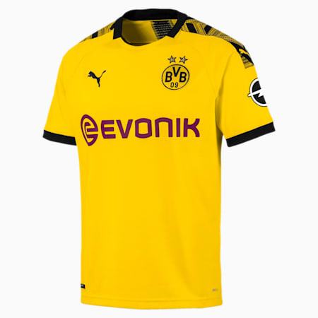 BVB Men's Home Replica Jersey, Cyber Yellow-Puma Black, small-IND
