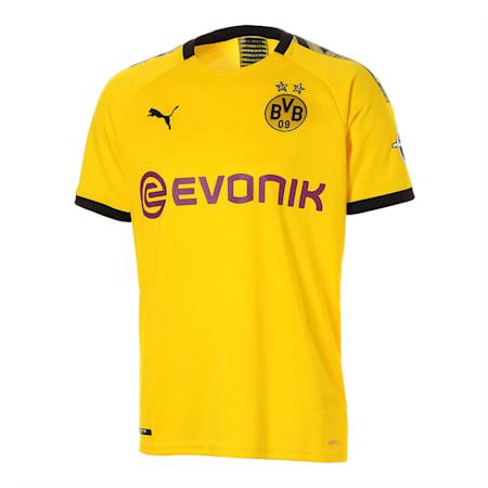 ドルトムント BVB SS ホーム レプリカシャツ 半袖 ユニフォーム, Cyber Yellow-Puma Black, small-JPN
