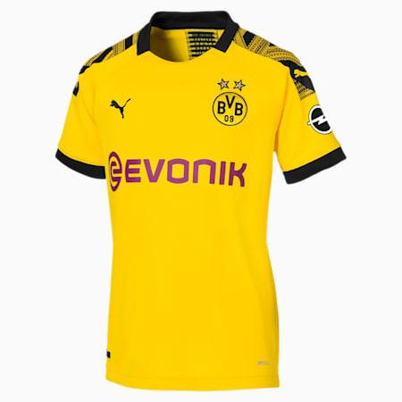 Damska replika koszulki domowej BVB, Cyber Yellow-Puma Black, small