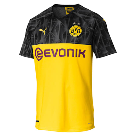 ドルトムント BVB SS カップ レプリカシャツ (半袖), Cyber Yellow-Puma Black, small-JPN