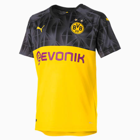 BVB Boys' Cup Replica Jersey JR, Cyber Yellow-Puma Black, small