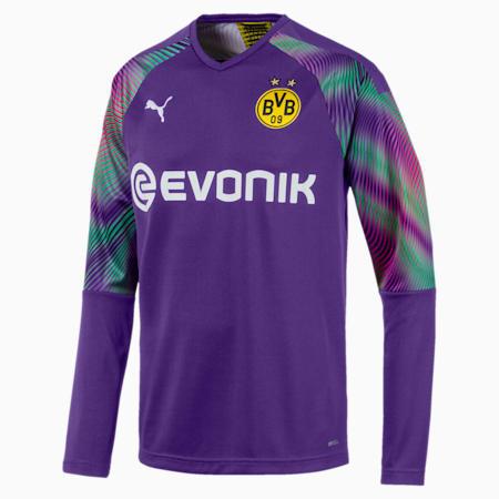 BVB Replica Long Sleeve Men's Goalkeeper Jersey, Prism Violet, small