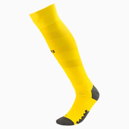 BVB Men's Spiral Socks, Cyber Yellow-Puma Black, small