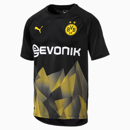 BVB International Stadium Men's Replica Jersey, Puma Black-Cyber Yellow, small