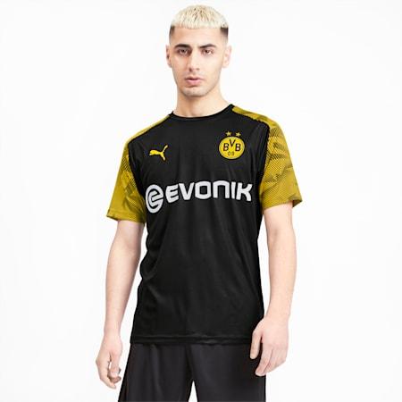 BVB Men's Training Jersey, Puma Black-Cyber Yellow, small-SEA