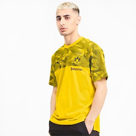 BVB Casuals Men's Tee, Cyber Yellow-Puma Black, small