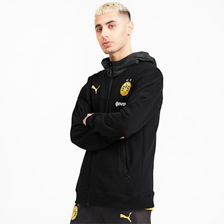 Meska koszulka BVB Casuals, Puma Black-Phantom Black, small