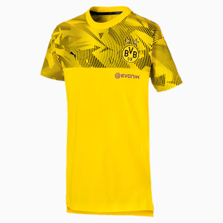 Dziecieca koszulka BVB Casuals, Cyber Yellow-Puma Black, small