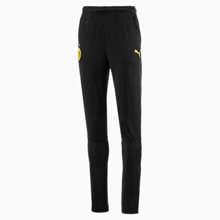 BVB Kids' Knitted Training Pants, Puma Black-Cyber Yellow, small
