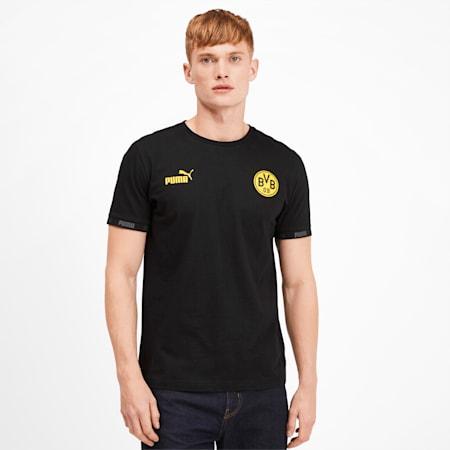BVB Football Culture Men's Tee, Puma Black, small
