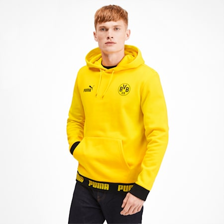 BVB Ftbl Culture Men's Hoodie, Cyber Yellow, small