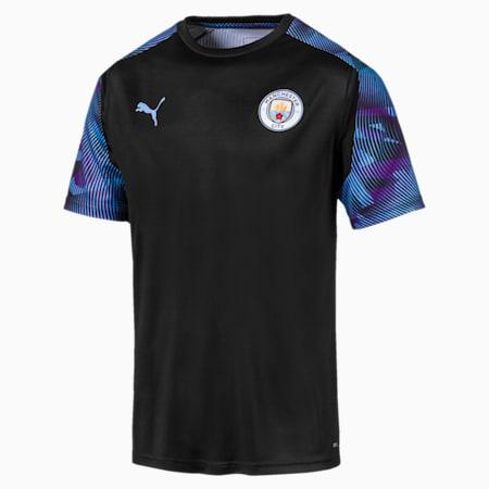 Meska koszulka treningowa Man City, Puma Black-Team Light Blue, small