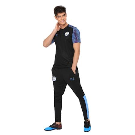 Man City Men's Training Jersey, Puma Black-Team Light Blue, small-IND