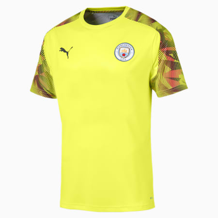 Man City Men's Training Jersey, Fizzy Yellow-Asphalt, small