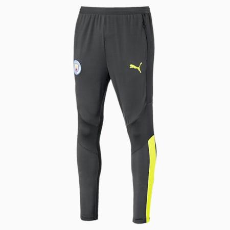 Manchester City FC Men's Pro Training Pants, Asphalt-Fizzy Yellow, small