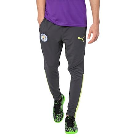 Manchester City FC Men's Pro Training Pants, Asphalt-Fizzy Yellow, small-IND