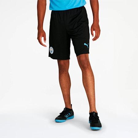 Manchester City FC Men's Training Shorts, Puma Black-Team Light Blue, small
