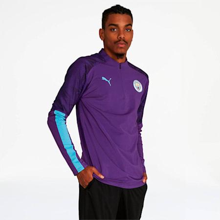 Camiseta Manchester City FC con cierre1/4 para hombre, TillandsiaPurple-TeamLightBl, pequeño