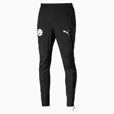 Man City Woven Men's Pants, Puma Black-Team Light Blue, small-SEA
