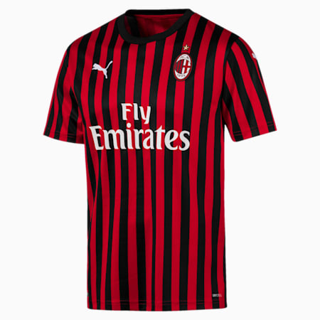AC Milan Home Replica Men's Jersey, Tango Red -Puma Black, small-SEA