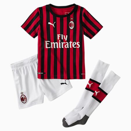 AC Milan Home Replica Babies' Mini Kit With Socks, Tango Red -Puma Black, small