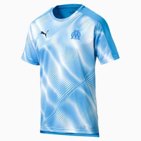 Olympique de Marseille Stadium Men's Jersey, Bleu Azur-Puma White, small