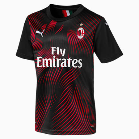Maillot de remplacement AC Milan Replica pour enfant, Puma Black-Tango Red, small