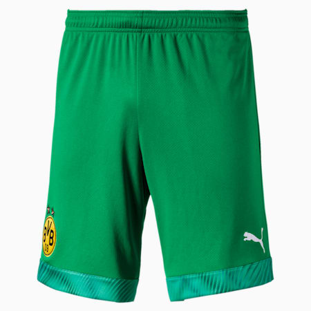 BVB Men's Replica Goalkeeper Shorts, Bright Green, small
