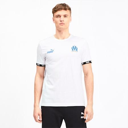 Olympique de Marseille Football Culture Men's Tee, Puma White, small