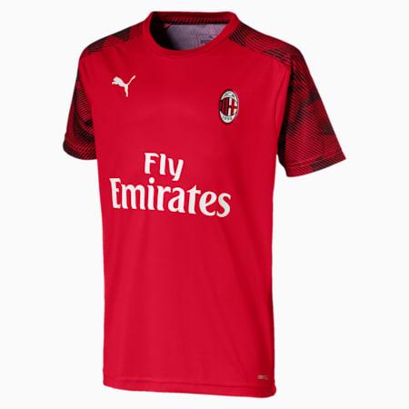 Dziecieca treningowa koszulka z krótkim rekawem AC Milan, Tango Red -Puma Black, small