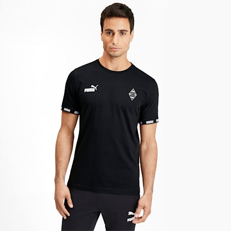 Borussia Mönchengladbach Football Culture Men's Tee, Puma Black, small