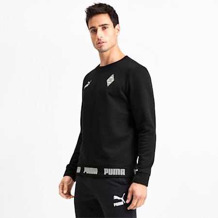 Borussia Mönchengladbach Football Culture Herren Sweatshirt, Puma Black, small