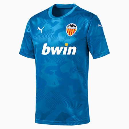 Valencia CF Third Replica Men's Shirt, Bleu Azur-Indigo Bunting, small