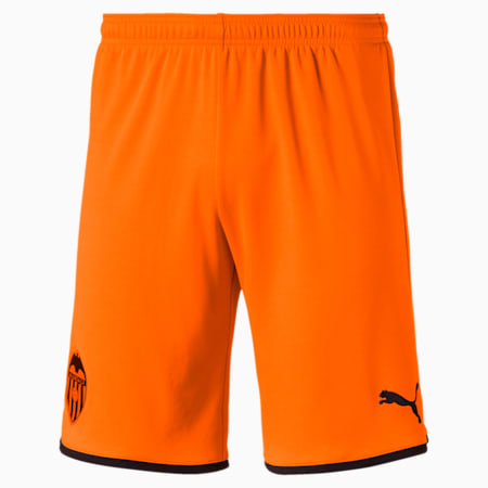 Valencia CF Replica Men's Shorts, Vibrant Orange-Puma Black, small