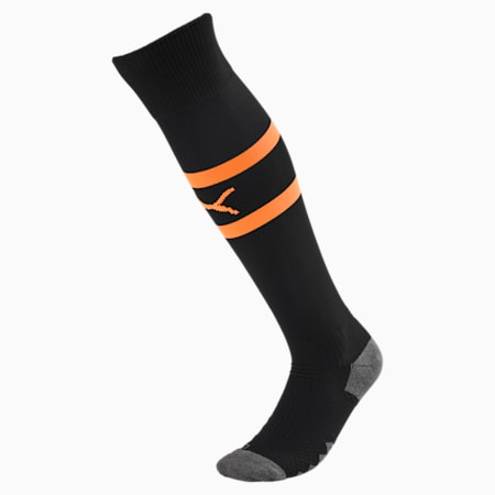Valencia CF Banded Men's Socks, Puma Black-Vibrant Orange, small