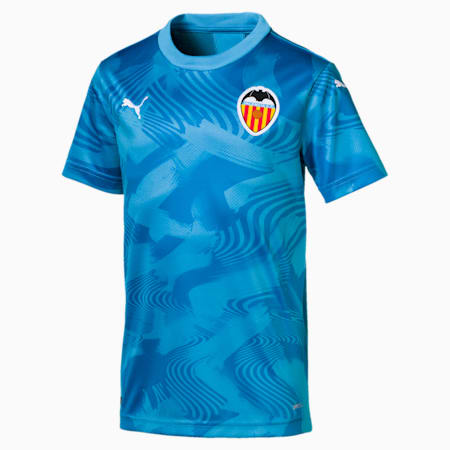 Valencia CF Third Replica Youth Shirt, Bleu Azur-Indigo Bunting, small