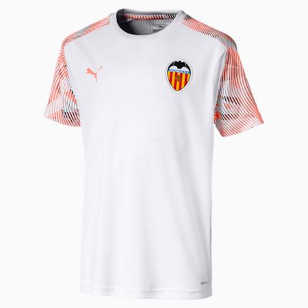 Valencia CF Kids' Training Jersey, Puma White-Fizzy Orange, small