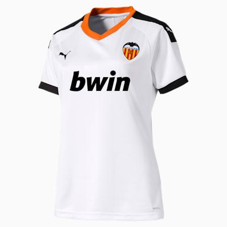 Valencia CF Women's Home Replica Jersey, White- Black-Vibrant Orange, small