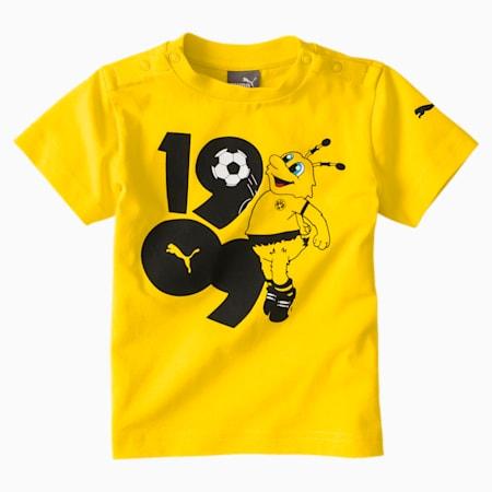 BVB Minicats Graphic Kids' Tee, Cyber Yellow, small